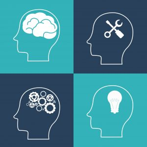 Think different concept with brain design, vector illustration 10 eps graphic.